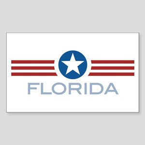 Star Stripes Florida Rectangle Sticker