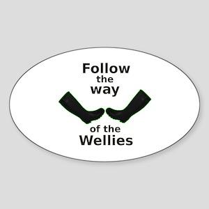 Way of Wellies Oval Sticker