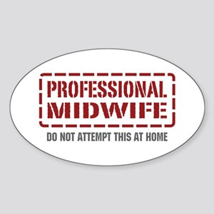 Professional Midwife Oval Sticker