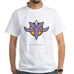 Fragrant Orchid White T-Shirt