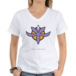 Fragrant Orchid Women's V-Neck T-Shirt