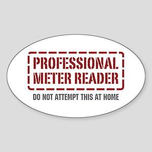Professional Meter Reader Oval Sticker