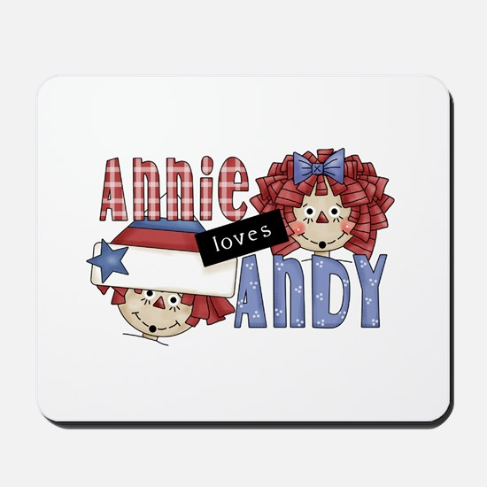 Annie Loves Andy Mousepad
