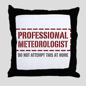 Professional Meteorologist Throw Pillow