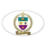 CARON Family Crest Oval Sticker