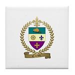 CARON Family Crest Tile Coaster