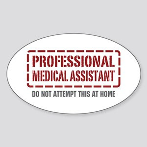 Professional Medical Assistant Oval Sticker