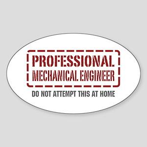 Professional Mechanical Engineer Oval Sticker