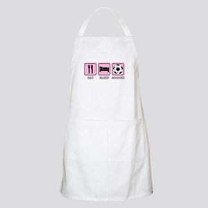 EAT SLEEP SOCCER (pink) BBQ Apron
