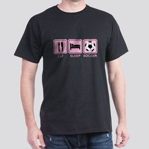 EAT SLEEP SOCCER (pink) Dark T-Shirt
