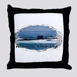 Retired Sub Vet Diesel 5 Throw Pillow