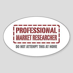 Professional Market Researcher Oval Sticker