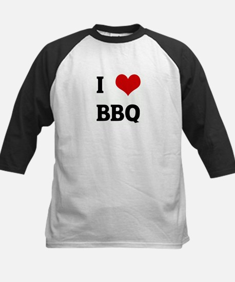 I Love BBQ Kids Baseball Jersey
