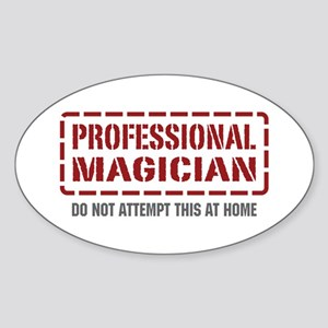 Professional Magician Oval Sticker