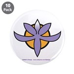"Fragrant Orchid 3.5"" Button (10 pack)"