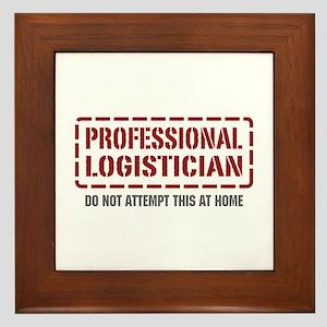 Professional Logistician Framed Tile