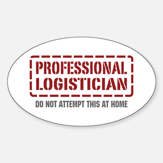 Professional Logistician Oval Decal