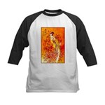 Japanese Geisha Playing the Flute Baseball Jersey