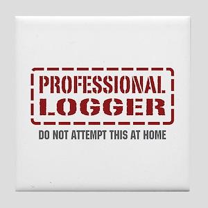 Professional Logger Tile Coaster