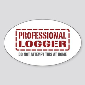 Professional Logger Oval Sticker