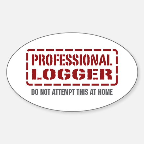 Professional Logger Oval Decal