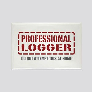 Professional Logger Rectangle Magnet