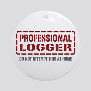 Professional Logger Ornament (Round)