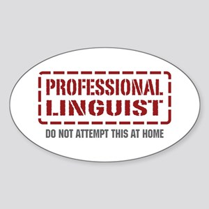 Professional Linguist Oval Sticker