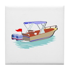Boats Ahoy Tile Coaster