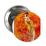 """Japanese Geisha Playing the Flute 2.25"""" Button (10"""