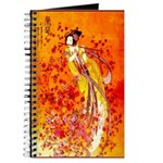 Japanese Geisha Playing the Flute Journal