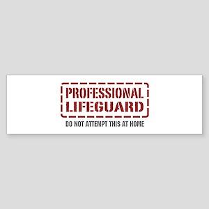 Professional Lifeguard Bumper Sticker