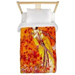 Japanese Geisha Playing the Flute Twin Duvet Cover