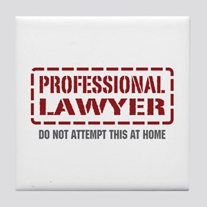 Professional Lawyer Tile Coaster
