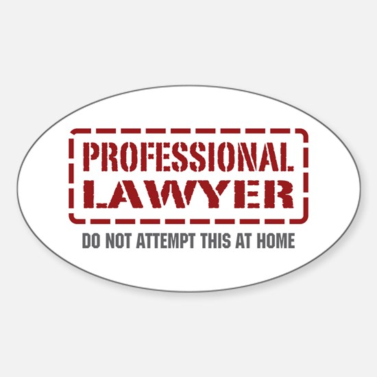 Professional Lawyer Oval Decal