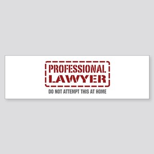 Professional Lawyer Bumper Sticker