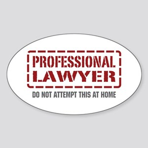 Professional Lawyer Oval Sticker