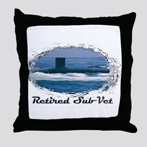 retired sub vet 3 Throw Pillow