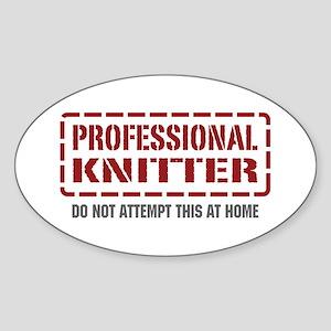 Professional Knitter Oval Sticker