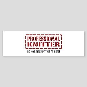 Professional Knitter Bumper Sticker