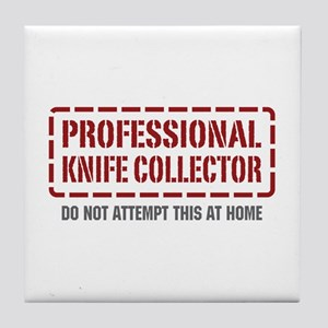 Professional Knife Collector Tile Coaster