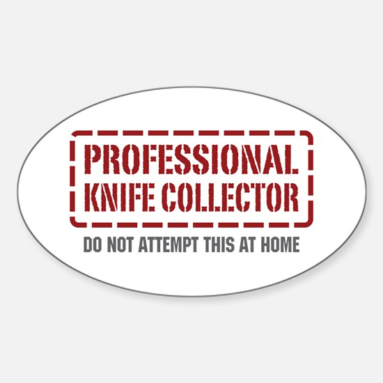 Professional Knife Collector Oval Decal