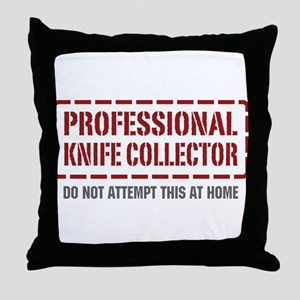 Professional Knife Collector Throw Pillow