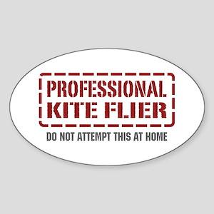 Professional Kite Flier Oval Sticker