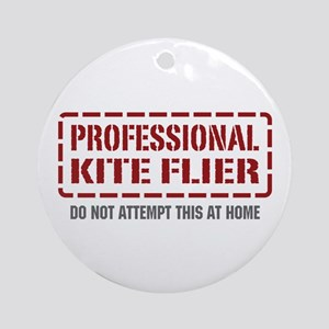 Professional Kite Flier Ornament (Round)