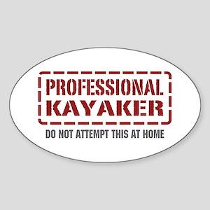 Professional Kayaker Oval Sticker
