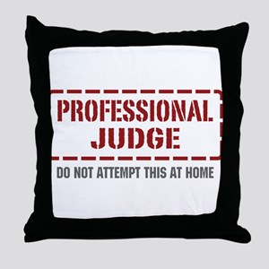 Professional Judge Throw Pillow