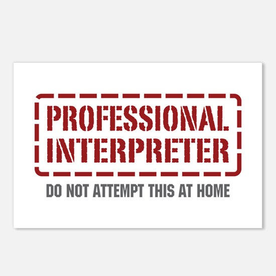 Professional Interpreter Postcards (Package of 8)