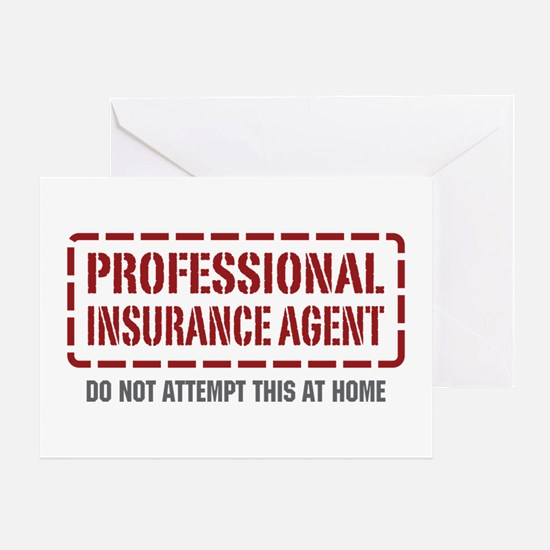 Professional Insurance Agent Greeting Card
