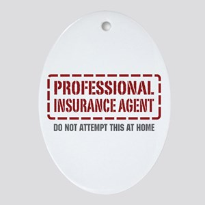 Professional Insurance Agent Oval Ornament